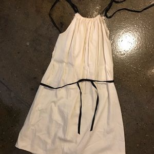 Dresses & Skirts - Cream a line dress with ribbon tie